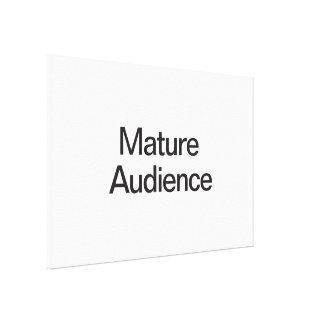 Audiencia madura impresión en lona estirada