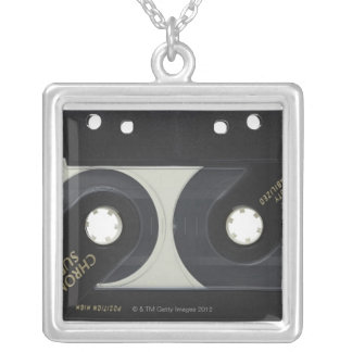 Audio Cassette Silver Plated Necklace