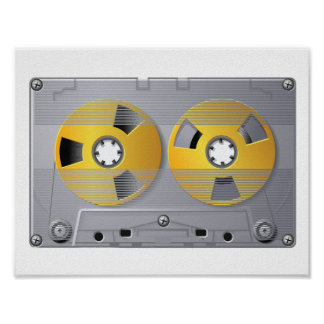Audio Cassette Tape Poster