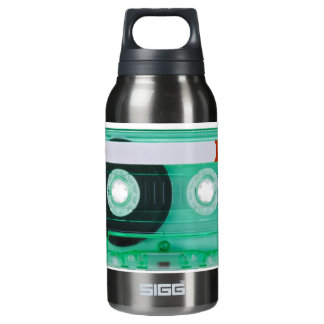 audio compact cassette insulated water bottle