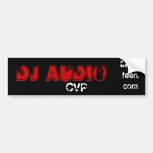 Audio de DJ, CVP, Musicfeen.com Pegatina Para Auto