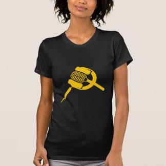 Audio de la cera - la camiseta de las mujeres poleras