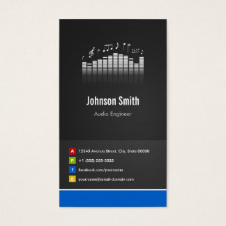 Audio Engineer - Premium Creative Innovative Business Card