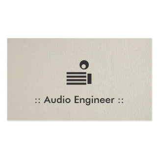 Audio Engineer Simple Elegant Professional Double-Sided Standard Business Cards (Pack Of 100)