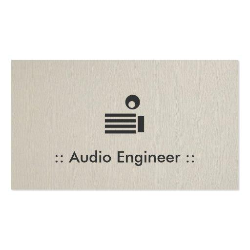 audio engineer simple elegant professional business card