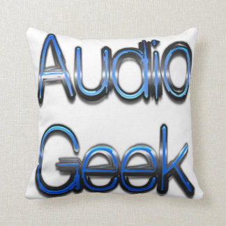 Audio Geek Blue Throw Pillows