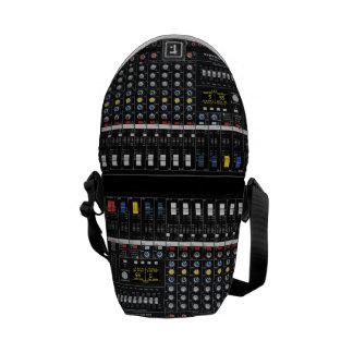 Audio Mixer pattern Courier Bag