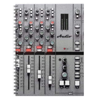 "Audio Mixer ""Take Sheet"" Notebook"