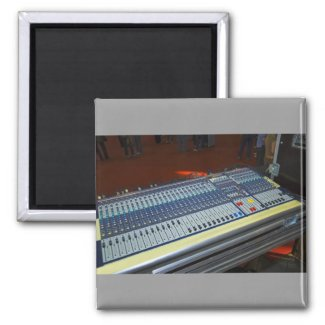 audio mixing console - sound board
