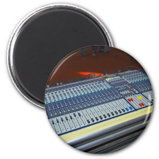 audio mixing console - sound board 2 inch round magnet