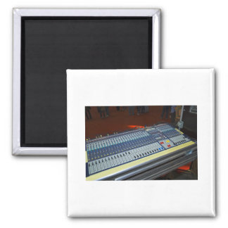 audio mixing console - sound board 2 inch square magnet