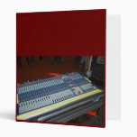 audio mixing console - sound board 3 ring binders