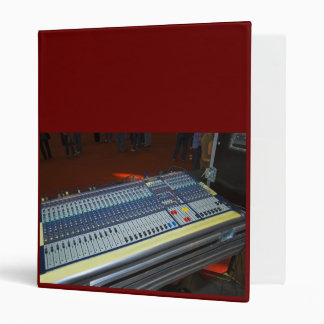audio mixing console - sound board binder