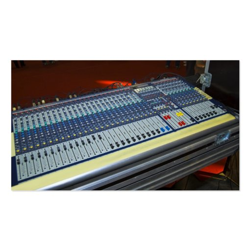 audio mixing console - sound board business card