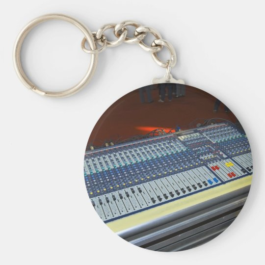 audio mixing console - sound board keychain