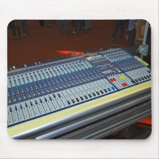 audio mixing console - sound board mouse pad
