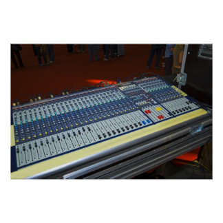 audio mixing console - sound board poster