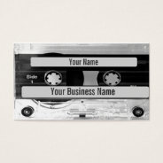 Audio Music Cassette Tape Business Card at Zazzle