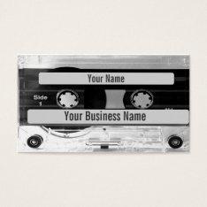 Audio Music Cassette Tape Business Card at Zazzle