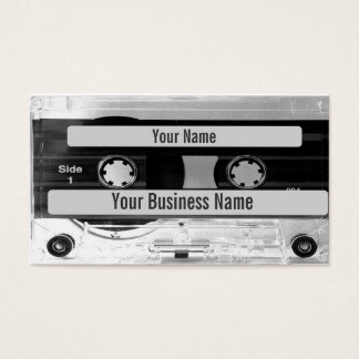Audio Music Cassette Tape Business Card