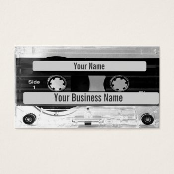 Audio Music Cassette Tape Business Card by DigitalDreambuilder at Zazzle