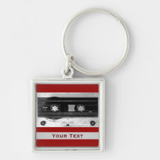Audio Music Cassette Tape Luggage Or Laptop Tag Keychain at Zazzle