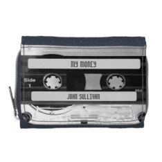 Audio Music Cassette Tape On Denim Wallet at Zazzle