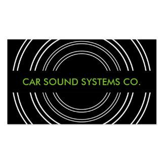 Audio para el automóvil y alarmas tarjetas de visita
