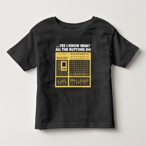 Audio Sound Engineer - Music DJ Turntable Toddler T-shirt