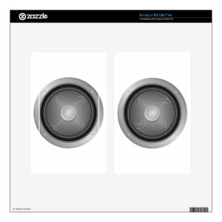 Audio speaker decals for kindle fire