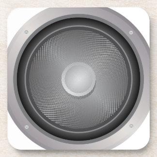 Audio speaker drink coaster