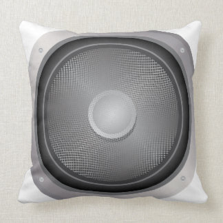 Audio speaker throw pillow