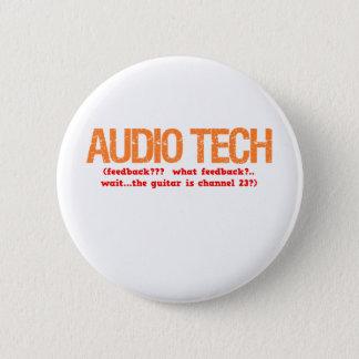 Audio Tech Description Pinback Button