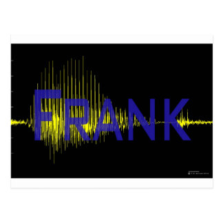 Audio waveform of your name with your name, unique postcard