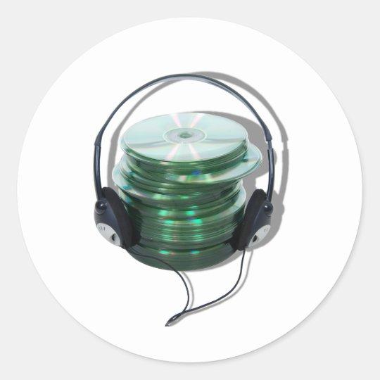 AudioCD042109ashadows Classic Round Sticker