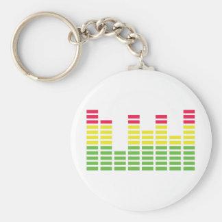 audiocontroller equalizer icon basic round button keychain
