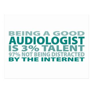 Audiologist 3% Talent Postcard