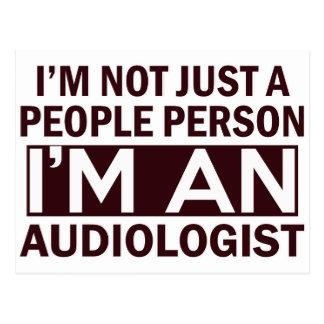 audiologist design postcard