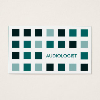 AUDIOLOGIST (mod squares) Business Card