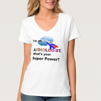 Audiologist Superhero, whimsical design T-Shirt