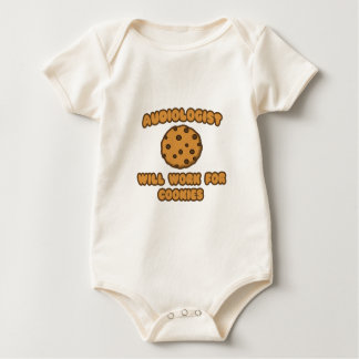 Audiologist .. Will Work for Cookies Baby Bodysuit