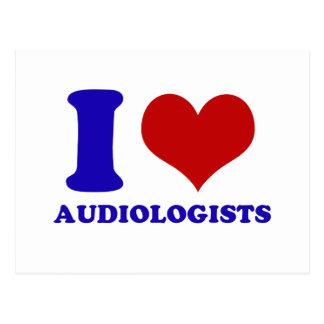 audiologists design postcard