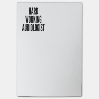 Audiólogo de trabajo duro notas post-it®
