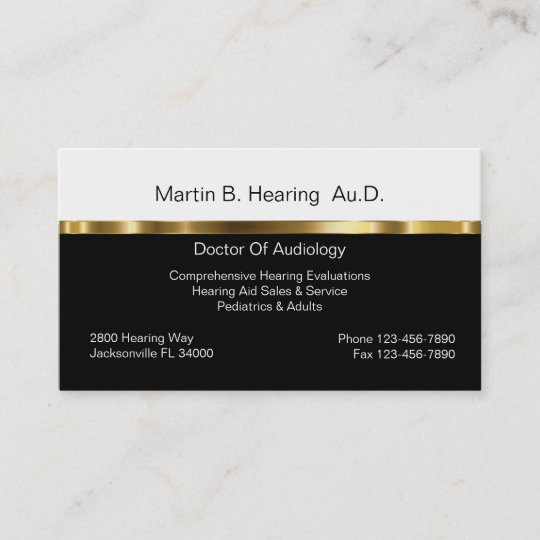Audiology business cards zazzle audiology business cards reheart Image collections
