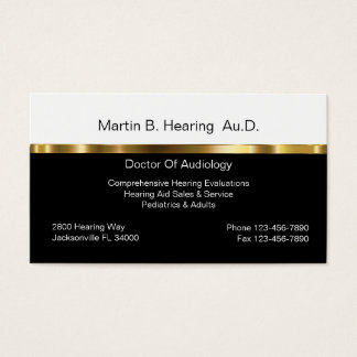 Audiology Business Cards