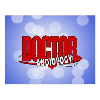 AUDIOLOGY  DOCTOR AUDIOLOGIST BIG RED LOGO POSTCARD