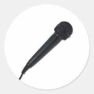 AudioMicrophoneAngle110511 Pegatina Redonda