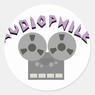 Audiophile Classic Round Sticker