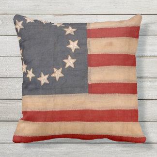 audiophiliacs.com ALL AMERICAN FLAG WAVER pillow