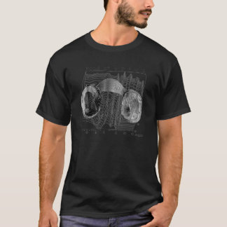 Audiorama Pillow Headphone Graph T-shirt